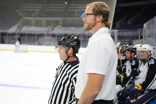 Chris Pronger with Ref