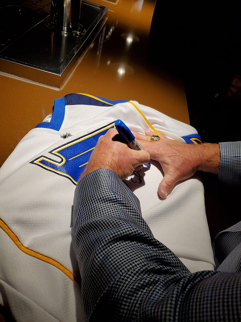 Signing jersey