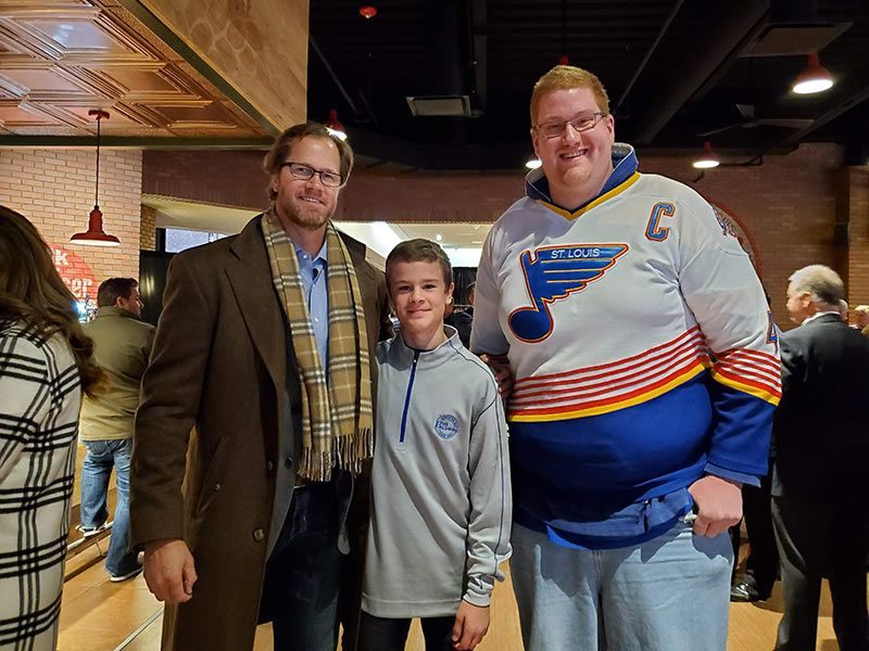Pronger with young fan and tall fan