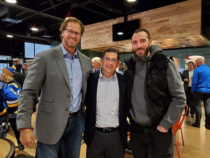 Pronger and Thorburn with Jason Stone